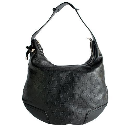 Gucci Guccissima Leather Princy Medium Hobo Handbag