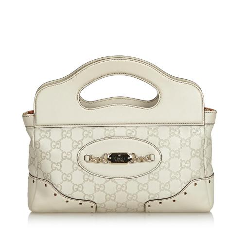 Gucci Guccissima Leather Punch Satchel