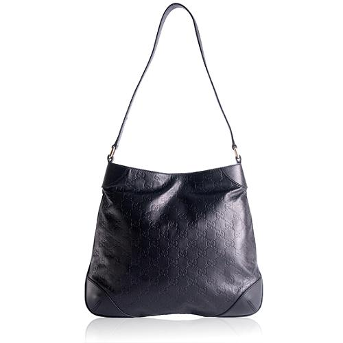 Gucci Guccissima Leather Shoulder Handbag