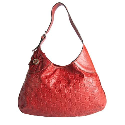 Gucci Guccissima Leather Small Hobo Handbag