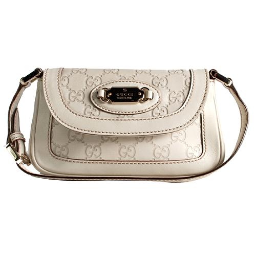 Gucci Guccissima Leather Small Shoulder Handbag