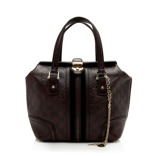 Gucci Guccissima Leather Treasure Boston Satchel