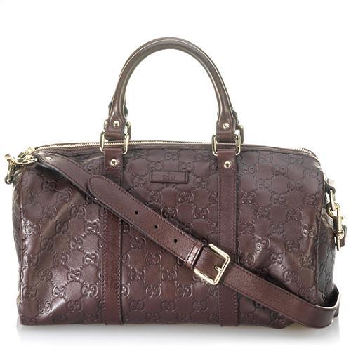 Gucci Guccissima Medium Boston Handbag