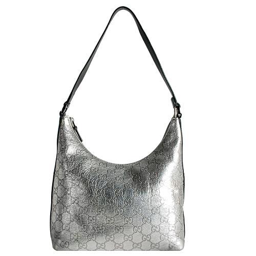 Gucci Guccissima Metallic Shoulder Handbag