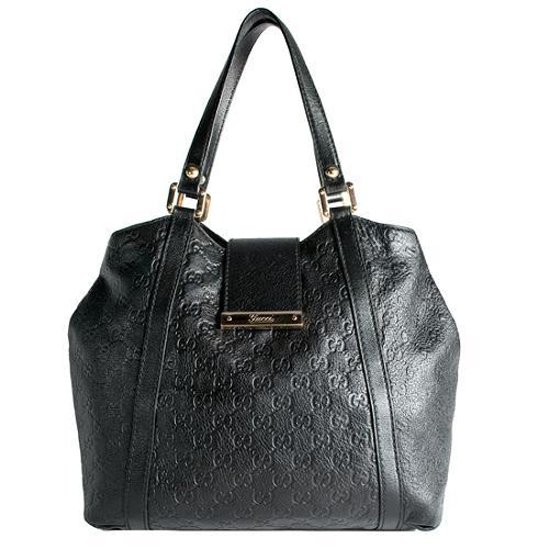 Gucci Guccissima New Ladies Web Leather Medium Tote