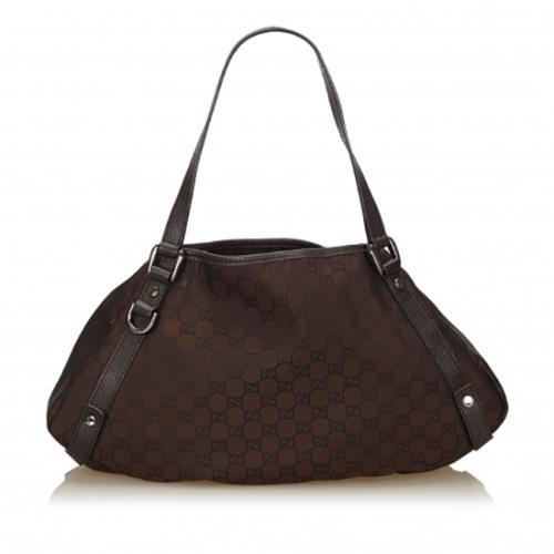 Gucci GG Nylon Abbey Medium Shoulder Bag