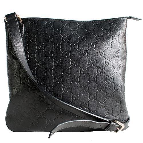 Gucci Guccissima Small Leather Messenger Handbag