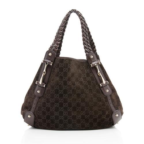 Gucci Guccissima Suede Pelham Medium Shoulder Bag