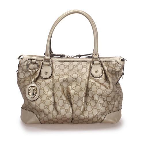 Gucci Guccissima Sukey Leather Satchel