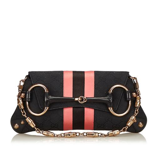 Gucci Limited Edition GG Canvas Tom Ford Horsebit Clutch