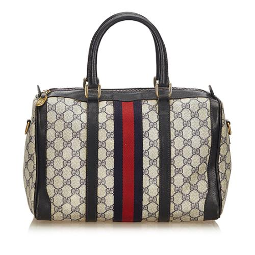 Gucci Vintage GG Plus Web Boston Satchel - FINAL SALE