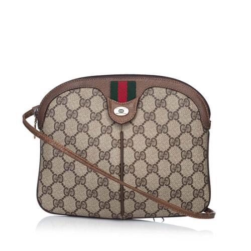 Gucci Vintage GG Plus Web Shoulder Bag