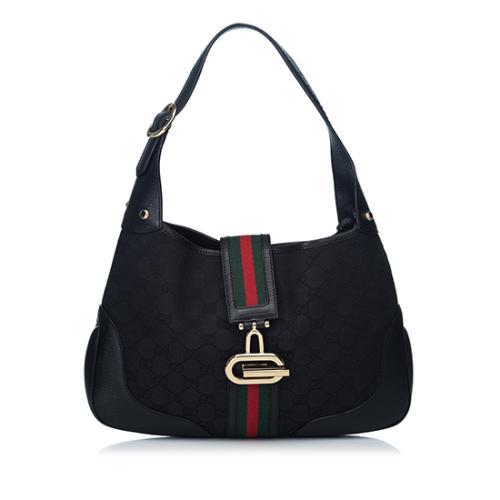 Gucci GG Canvas Web Junco Shoulder Bag