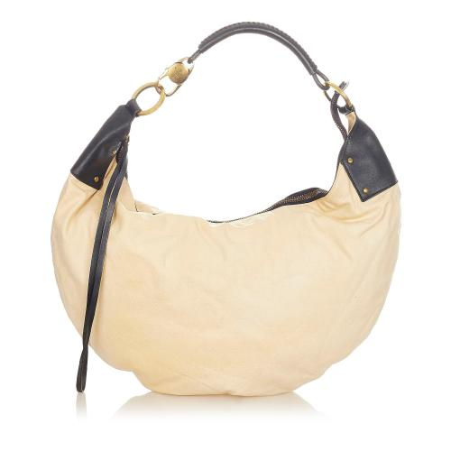 Gucci Half Moon Leather Hobo Bag