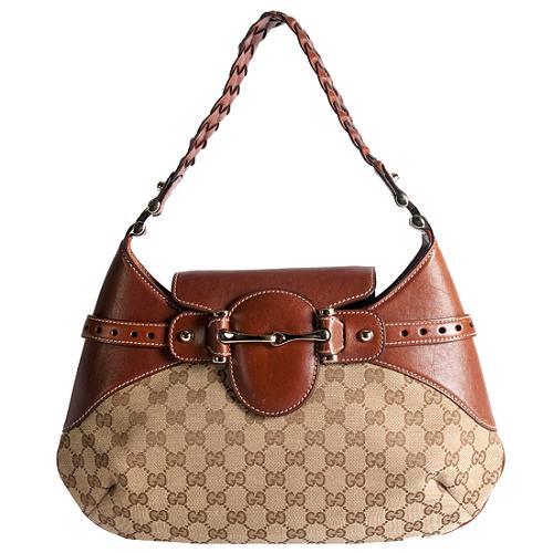 Gucci Horesbit Flap Medium Hobo Handbag
