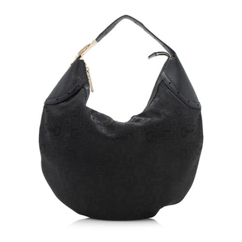 Gucci Horsebit Canvas Glam Hobo