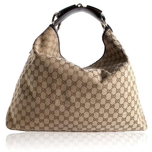 Gucci Horsebit Large Hobo Handbag