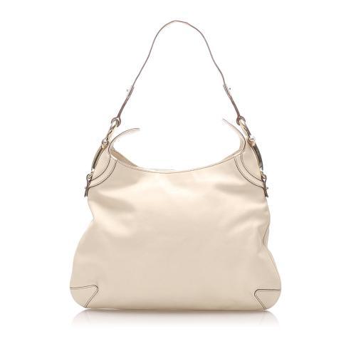 Gucci Leather Horsebit Creole Shoulder Bag