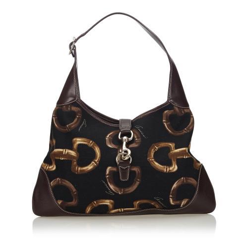 Gucci Horsebit Print Jackie Shoulder Bag