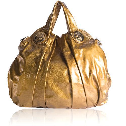 Gucci Hysteria Patent Leather Satchel Handbag