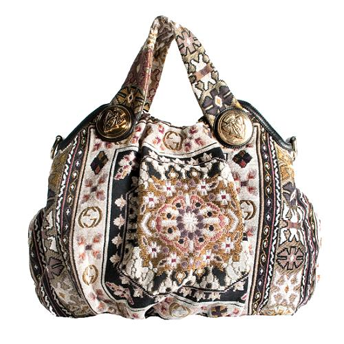 Gucci Hysteria Tapestry Shoulder Handbag