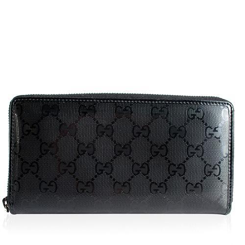 Gucci Imprimee Zip Around Wallet with Interlocking GG Detail