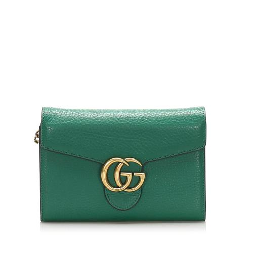 Gucci Interlocking G Chain Leather Crossbody Bag