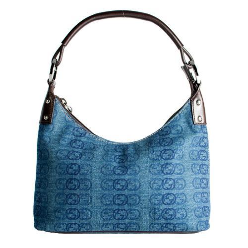 Gucci Interlocking G Fabric Small Shoulder Handbag