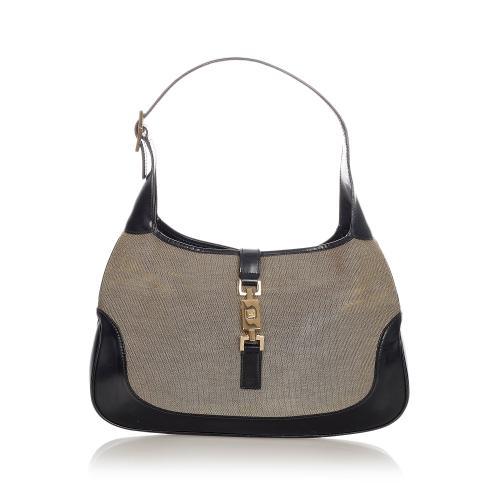 Gucci Jackie Canvas Shoulder Bag