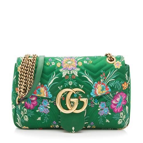 3c810f787216 Gucci Jacquard GG Marmont Floral Medium Shoulder Bag