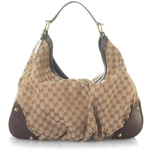 Gucci Jockey Large Hobo Handbag