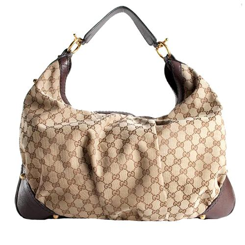 Gucci Jockey Large Hobo Handbag