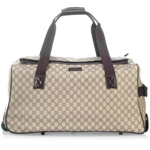 "Gucci Large 31"" Duffel with Wheels Travel Luggage"