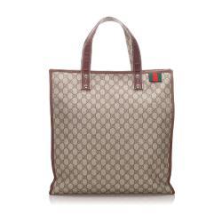 Gucci Large GG Supreme Shopper Tote