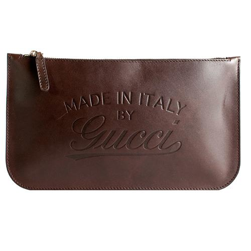 Gucci Large Vintage Embossed Clutch