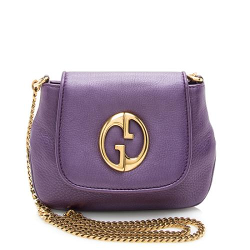 Gucci Leather 1973 Small Shoulder Bag