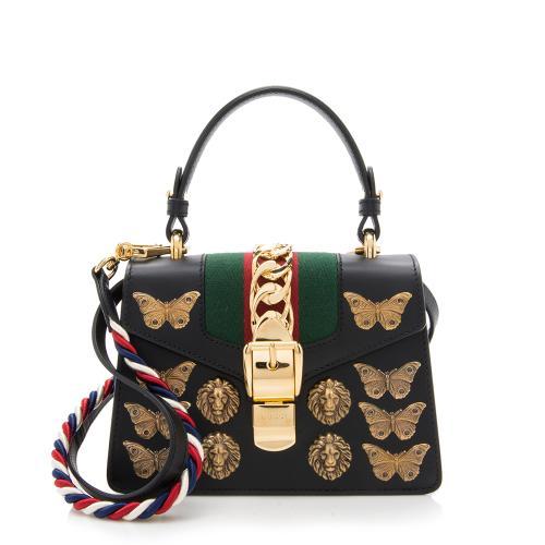 Gucci Leather Animal Studs Sylvie Mini Bag