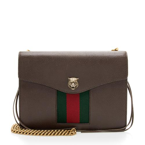 Gucci Leather Animaliar Chain Bag