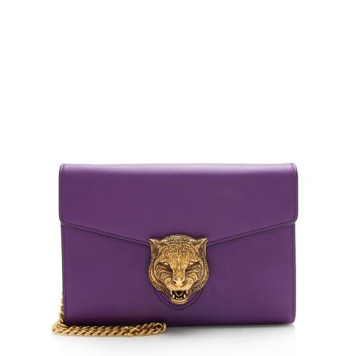 Gucci Leather Animalier Crossbody Bag