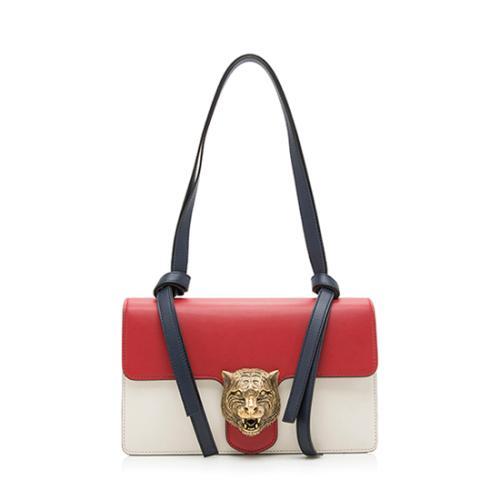 Gucci Leather Animalier Tiger Shoulder Bag