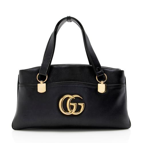 Gucci Leather Arli Large Top Handle Satchel - FINAL SALE
