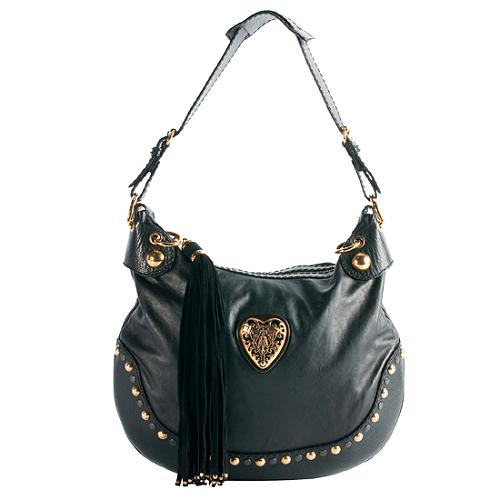 329285eb31bff7 Gucci Leather 'Babouska' Hobo Handbag