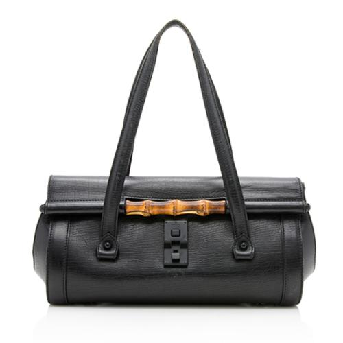 Gucci Leather Bamboo Bullet Medium Satchel