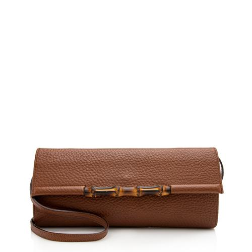 Gucci Leather Bamboo Convertible Clutch