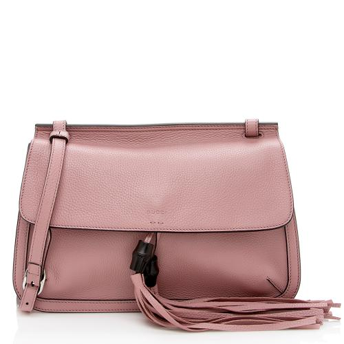 Gucci Leather Bamboo Daily Shoulder Bag