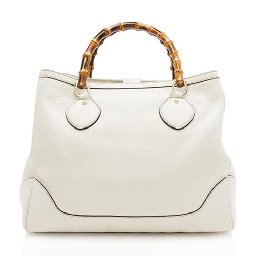 Gucci Leather Bamboo Diana Tote