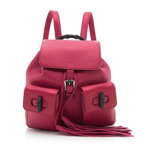 Gucci Leather Bamboo Sac Backpack
