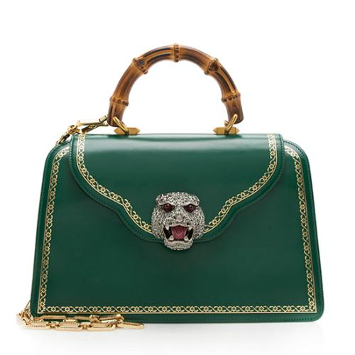 Gucci Leather Bamboo Thiara Medium Satchel