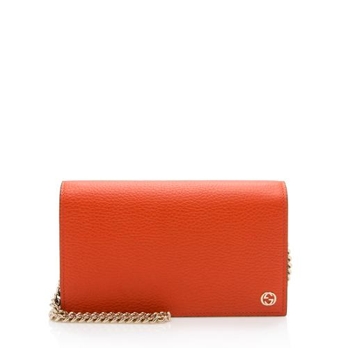 Gucci Dollar Calfskin Betty Medium Chain Wallet