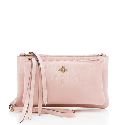 Gucci Leather Blind For Love Bee Crossbody